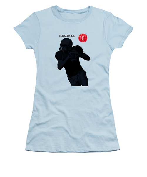 Women's T-Shirt (Junior Cut) featuring the digital art Indiana Football by David Dehner