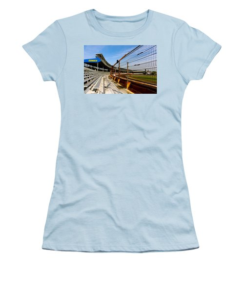 Indy  Indianapolis Motor Speedway Women's T-Shirt (Junior Cut) by Iconic Images Art Gallery David Pucciarelli