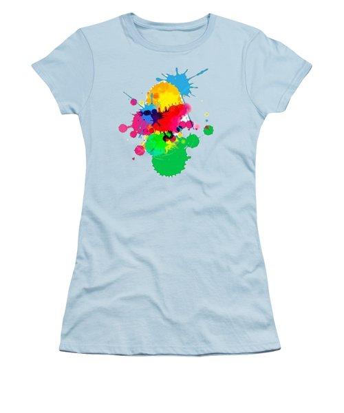 Inkblots T-shirt Women's T-Shirt (Junior Cut) by Herb Strobino
