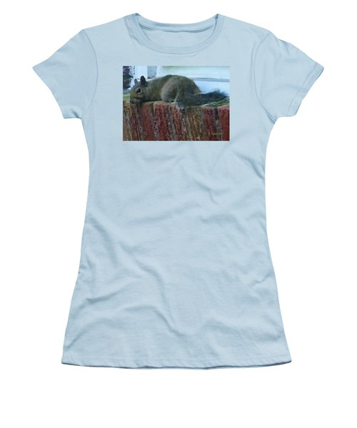 Women's T-Shirt (Athletic Fit) featuring the photograph Inquisitor Visitor by Denise Fulmer