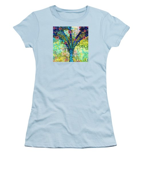 Inspirational Art - Absolute Joy - Sharon Cummings Women's T-Shirt (Junior Cut) by Sharon Cummings