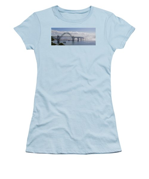 Into The Fog At Newport Women's T-Shirt (Junior Cut) by Mick Anderson