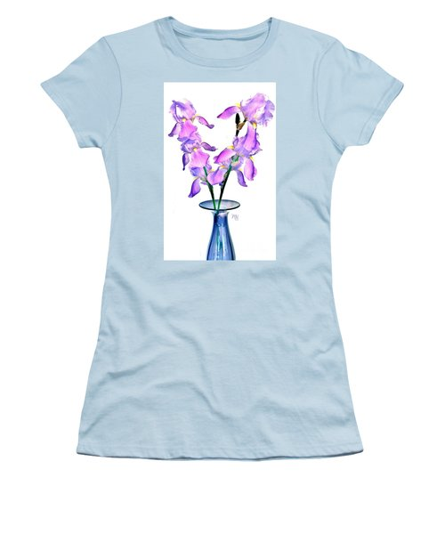 Iris Still Life In A Vase Women's T-Shirt (Athletic Fit)