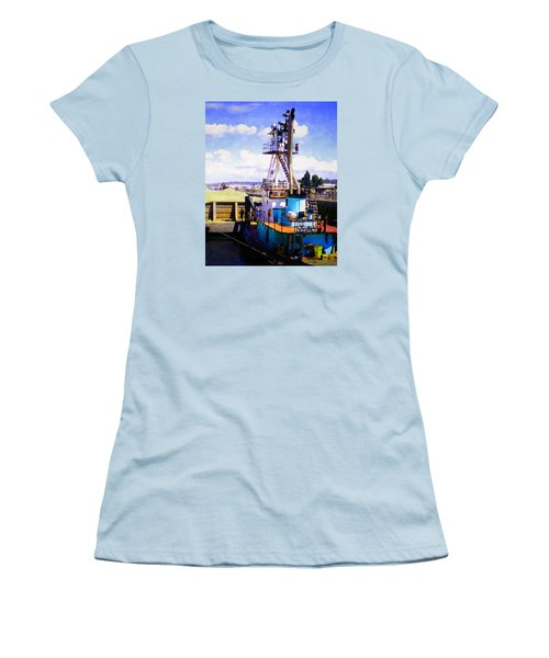 Island Chief In The Ballard Locks Women's T-Shirt (Junior Cut) by Timothy Bulone
