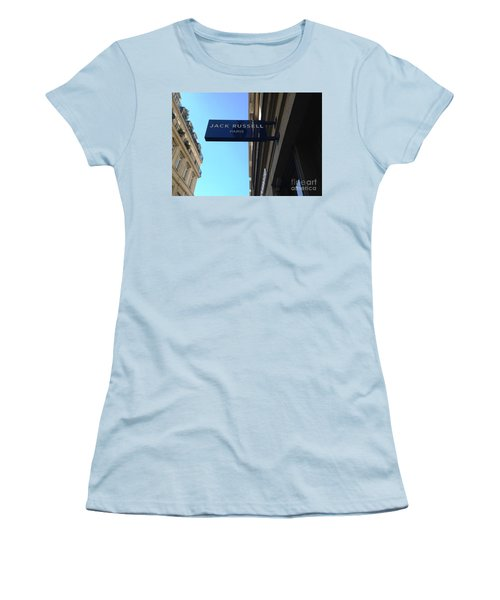 Jack Russell Paris Women's T-Shirt (Junior Cut) by Therese Alcorn