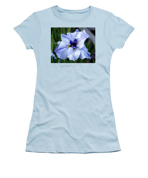 Japanese Water Iris In Blue 2695 H_3 Women's T-Shirt (Athletic Fit)