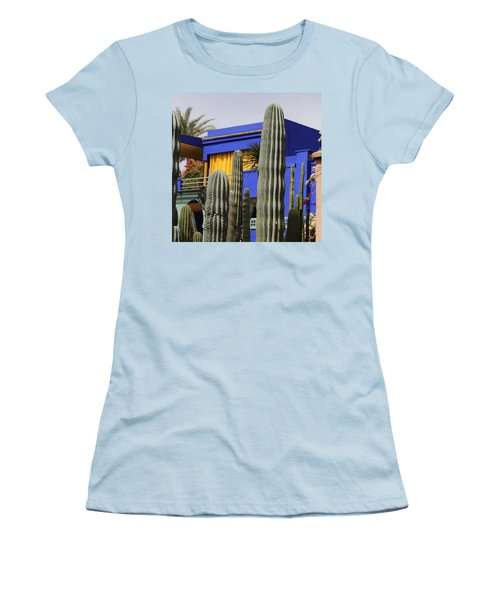 Women's T-Shirt (Junior Cut) featuring the photograph Jardin Majorelle 5 by Andrew Fare
