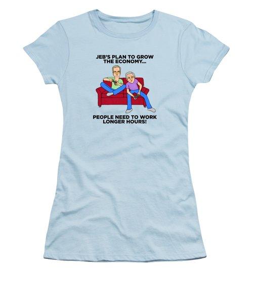 Jeb Bush Women's T-Shirt (Junior Cut) by Sean Corcoran