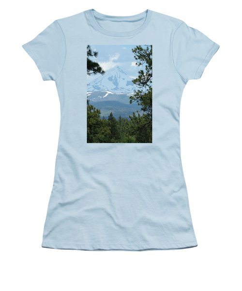 Women's T-Shirt (Junior Cut) featuring the photograph Jefferson Pines by Laddie Halupa