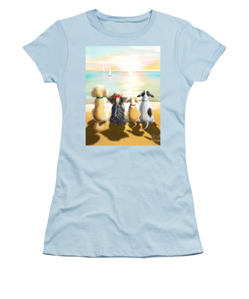 Jersey Shore Sunrise  Women's T-Shirt (Junior Cut) by Catia Cho