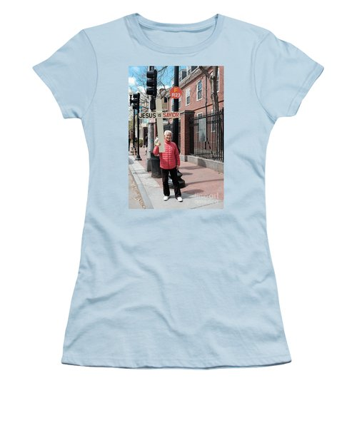 Jesus Is Savior Women's T-Shirt (Athletic Fit)