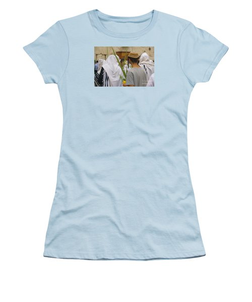 Jewish Sunrise Prayers At The Western Wall, Israel 8 Women's T-Shirt (Athletic Fit)