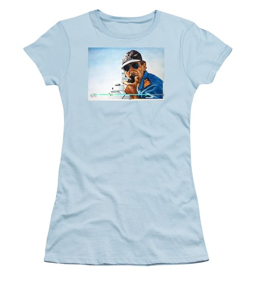 Joe Johnson Women's T-Shirt (Junior Cut) by Tim Johnson