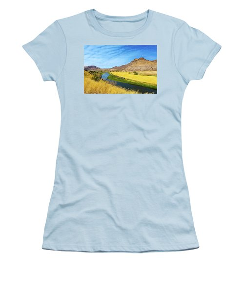 John Day River Panoramic View Women's T-Shirt (Athletic Fit)