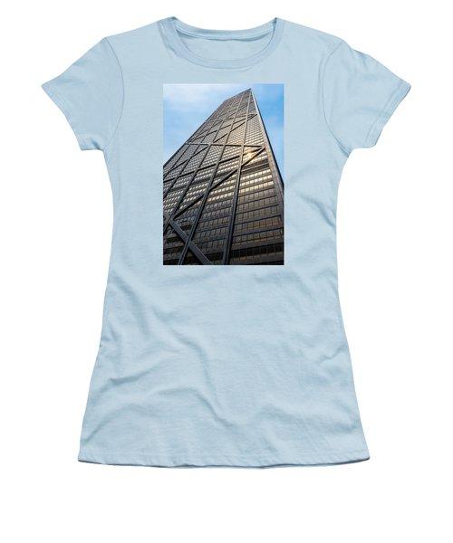John Hancock Center Chicago Women's T-Shirt (Junior Cut) by Steve Gadomski