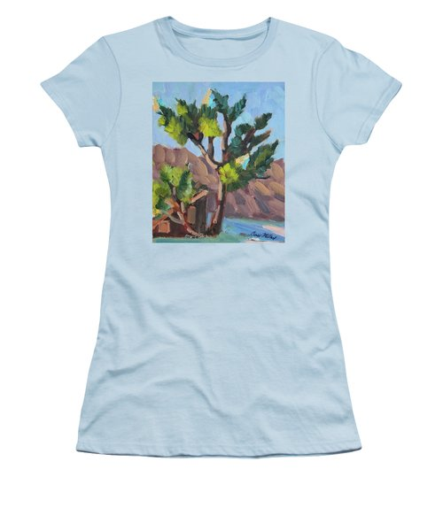 Women's T-Shirt (Junior Cut) featuring the painting Joshua At Keys Ranch by Diane McClary