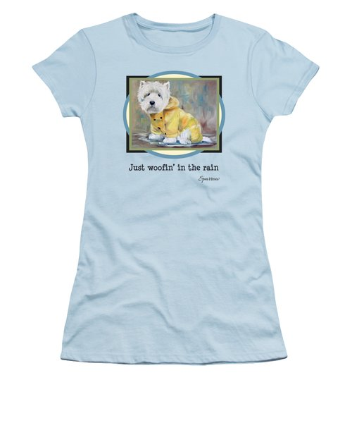 Just Woofin' In The Rain Women's T-Shirt (Athletic Fit)
