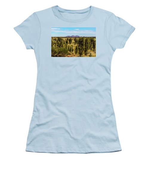 Women's T-Shirt (Athletic Fit) featuring the photograph Kata Tjuta 01 by Werner Padarin