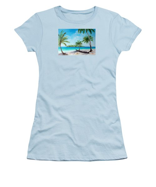 Kayak On The Beach Women's T-Shirt (Athletic Fit)