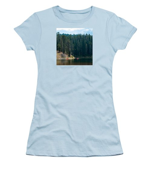 Kayakers Women's T-Shirt (Junior Cut) by Cathy Donohoue