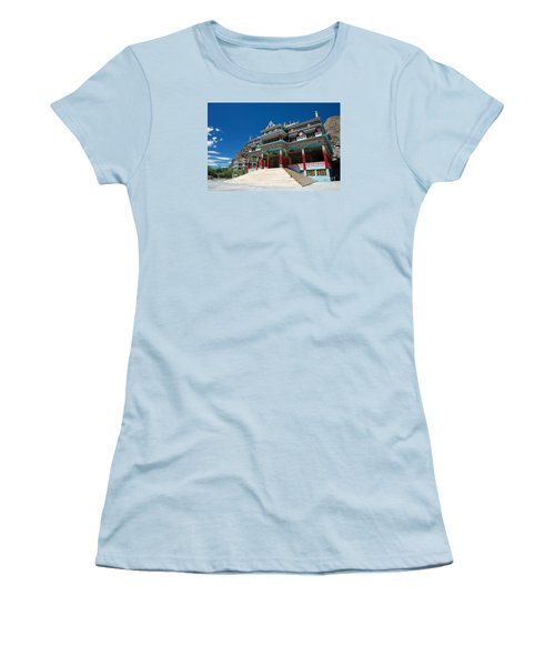 Women's T-Shirt (Athletic Fit) featuring the photograph Kaza Monastery by Yew Kwang