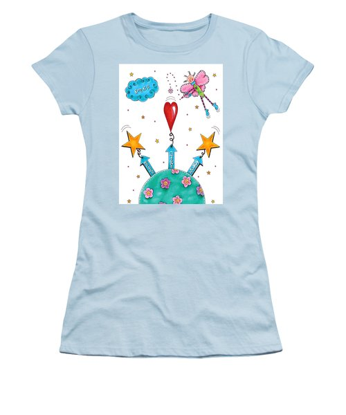 Keep At It Women's T-Shirt (Junior Cut) by Tracy Campbell