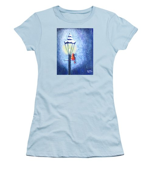 Keeping Warm Women's T-Shirt (Junior Cut) by Brenda Bonfield