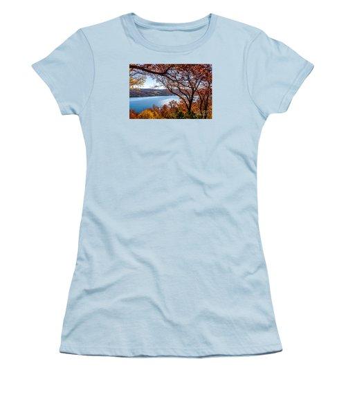 Keuka Lake Vista Women's T-Shirt (Junior Cut) by William Norton
