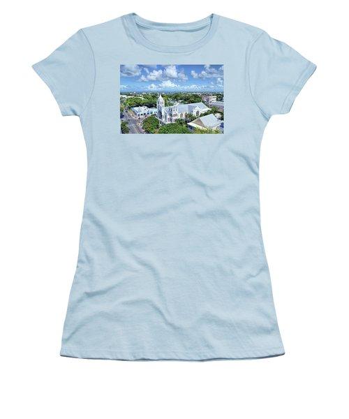 Women's T-Shirt (Junior Cut) featuring the photograph Key West by Olga Hamilton