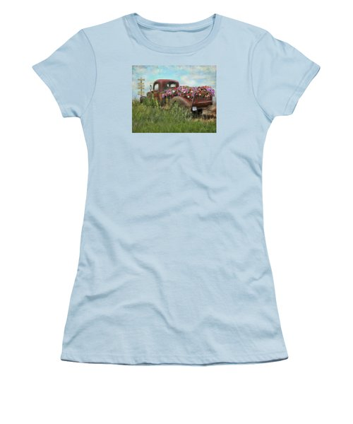 Kicks On Route 66 Women's T-Shirt (Junior Cut) by Colleen Taylor