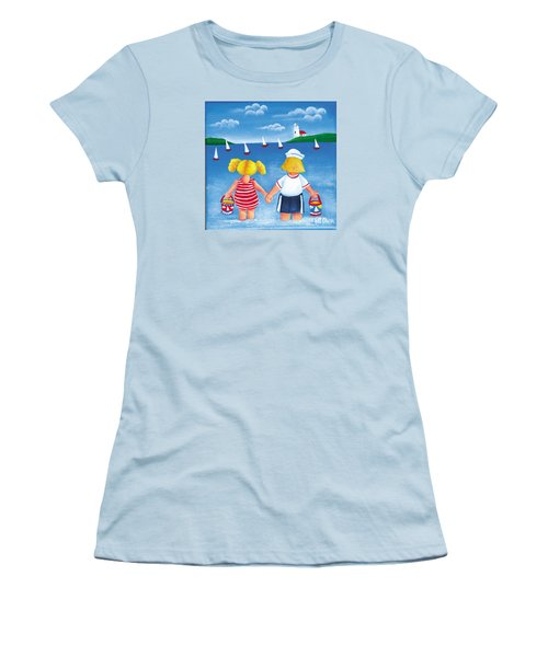 Kids In Door County Women's T-Shirt (Athletic Fit)