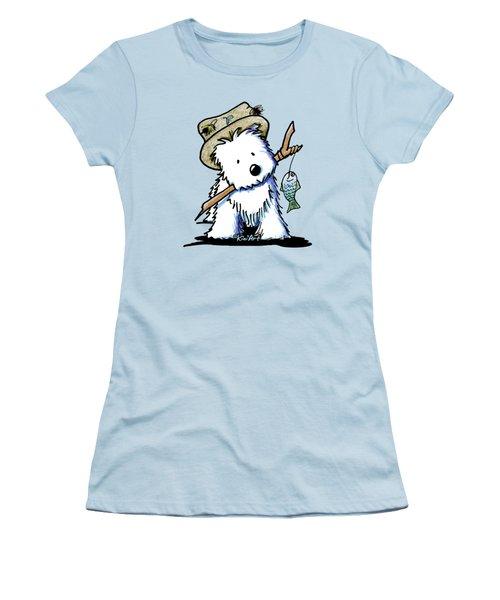 Kiniart Westie Fisherman Women's T-Shirt (Athletic Fit)