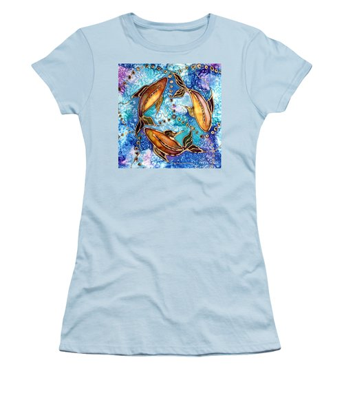 Women's T-Shirt (Junior Cut) featuring the painting Koiful by Pat Purdy