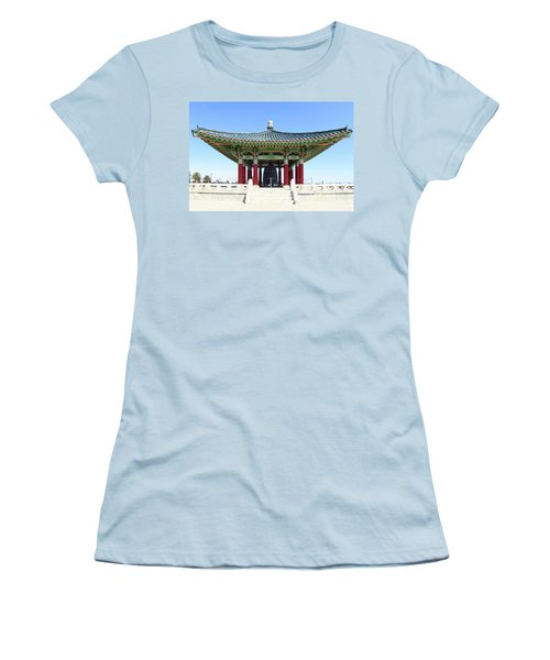 Korean Friendship Bell In Los Angeles Women's T-Shirt (Athletic Fit)