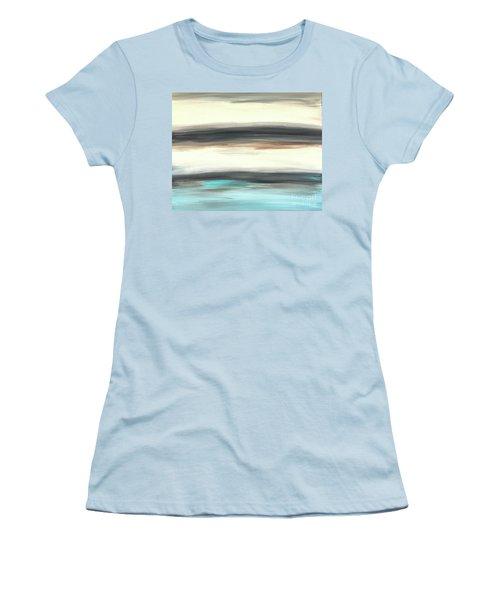 La Jolla #2 Seascape Landscape Original Fine Art Acrylic On Canvas Women's T-Shirt (Athletic Fit)
