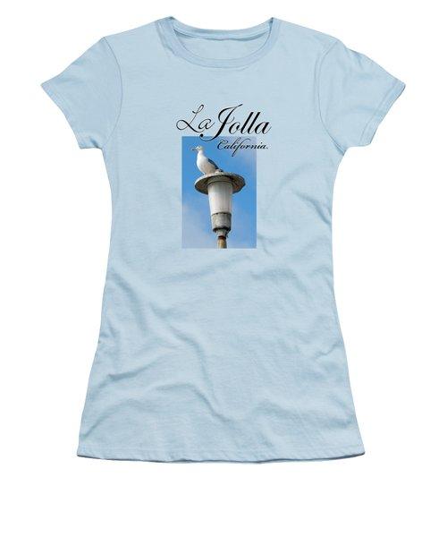 La Jolla Beach Seagull II Women's T-Shirt (Junior Cut) by K D Graves