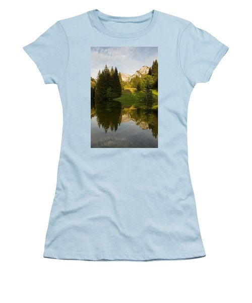 Lac De Fontaine Reflections Women's T-Shirt (Athletic Fit)