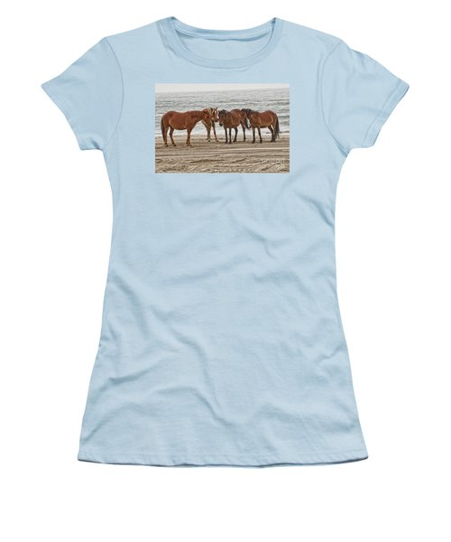 Ladies On The Beach Women's T-Shirt (Athletic Fit)