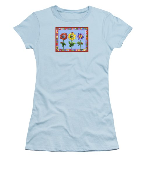 Ladybug Trio Women's T-Shirt (Athletic Fit)
