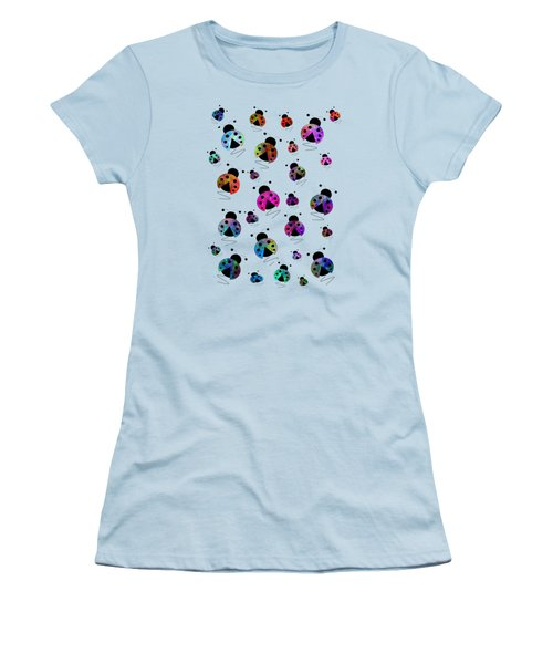 Ladybugs In Flight Women's T-Shirt (Athletic Fit)