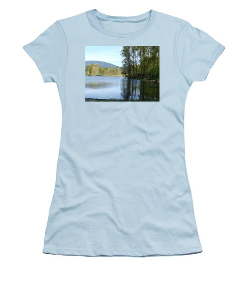 Lafarge Lake Serenity Women's T-Shirt (Junior Cut) by Rod Jellison
