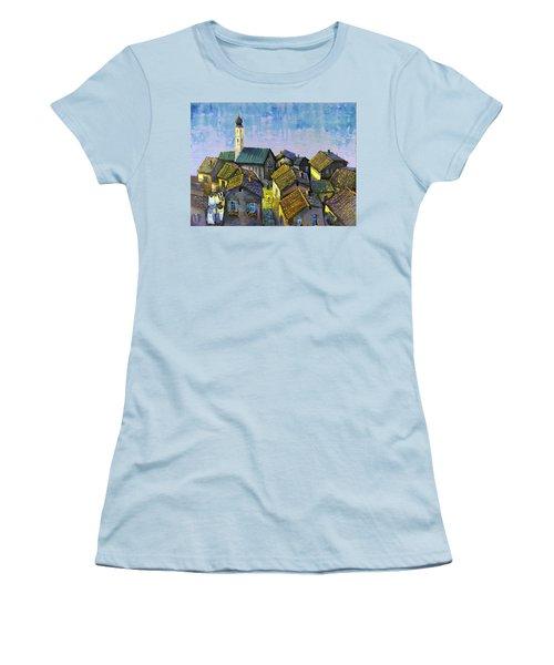 Lago   Caldonazza Women's T-Shirt (Junior Cut) by Mikhail Zarovny