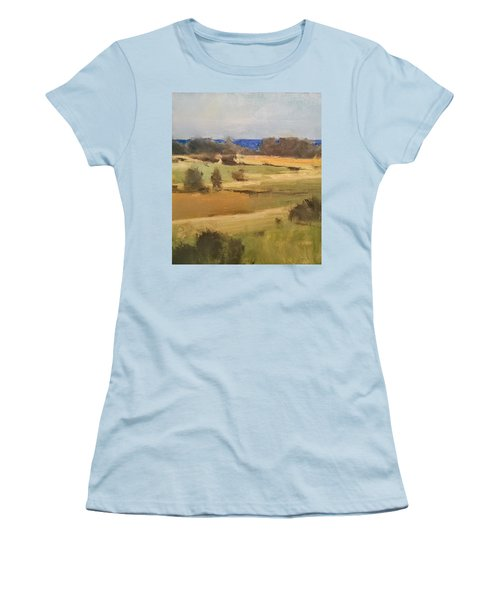 Lake Michigan Across The Field Women's T-Shirt (Athletic Fit)