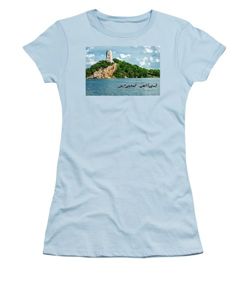 Lake Murray's Gaggle Of Geese Women's T-Shirt (Junior Cut) by Tamyra Ayles
