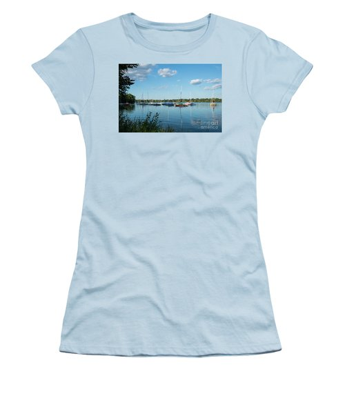 Lake Nokomis Minneapolis City Of Lakes Women's T-Shirt (Athletic Fit)