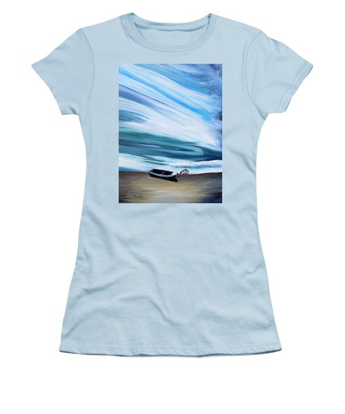 Land Meets Sky Women's T-Shirt (Junior Cut) by Marilyn  McNish