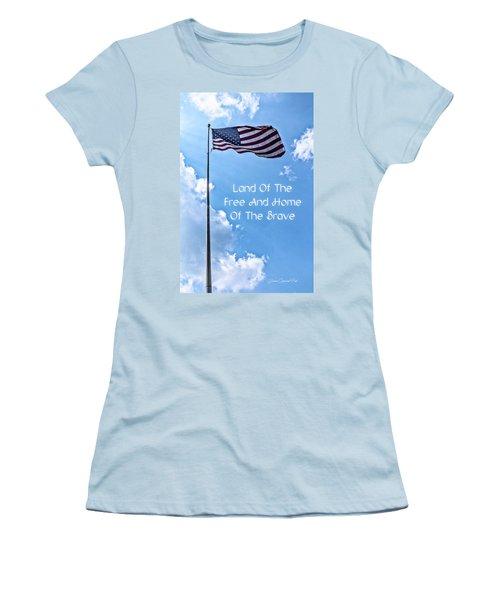 Land Of The Free Women's T-Shirt (Junior Cut) by Joann Copeland-Paul