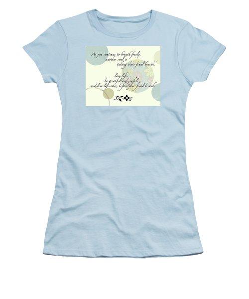 Last Breath Women's T-Shirt (Junior Cut) by Renie Rutten