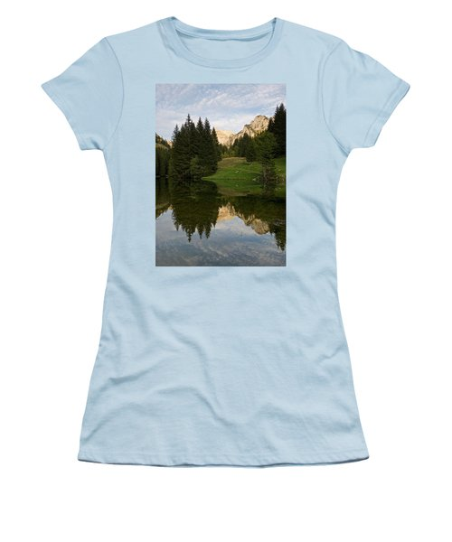 Last Light At Lac De Fontaine Women's T-Shirt (Athletic Fit)
