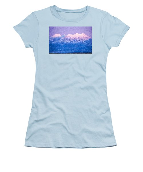 Last Light On Mount Peale From Buck Canyon Overlook Women's T-Shirt (Athletic Fit)